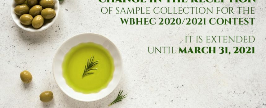 Change in the reception of sample collection for the WBHEC 2021